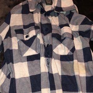 Womens blue flannel